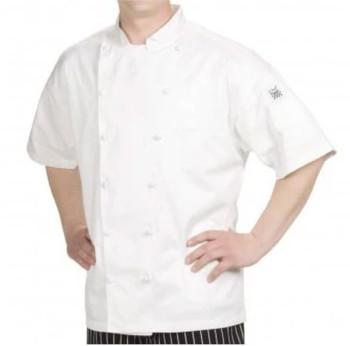 Bodyguard - CI21809SS XL - White Chef Jacket, Short Sleeve