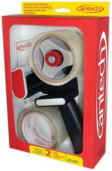 "Cantech 342-00 - 2"" Tape Dispenser, Carton Sealer With 2 Rolls"