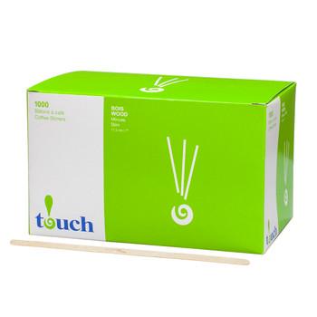 """Touch - 80-414N - 7"""" Wooden Stir Sticks - 10X1000/Case (Sub C10)"""