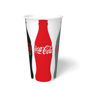 International Paper - DMR-32 - 32 oz Coca Cola Print II, 32 oz Cold Paper Cups - 500/cs