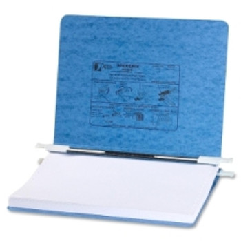 "Acco - Presstex Hanging Data Binder - 6"" Binder Capacity - 8 1/2"" Width x 14 7/8"" Length Sheet Size - Post Fastener - Presstex - Light Blue - 1 Each"