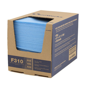 SaniWorks® F310 Deluxe Antimicrobial Foodservice  Towels Blue - 100/Case