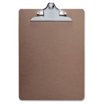 "Business Source - Clipboard - 9"" x 12.50"" - Hardboard - Brown"