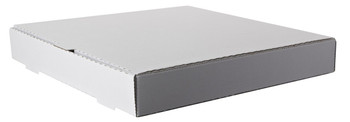 "Amber - 18"" x 18"" Plain White Pizza Box - 50/Bundle"