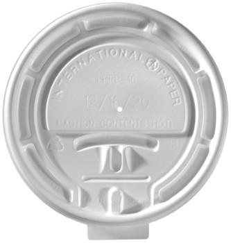 International Paper - LHRL-16 - White Flat Lock Back Lid - 1000/cs