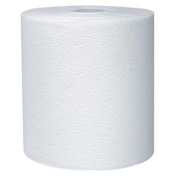 "Kleenex - 50606 - Hard Paper Towel Rolls, 1.75"" Core, 7.9"" Diameter, 600' White"