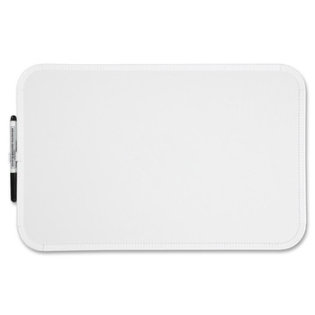 """Sparco - Dry Eraseboard - 17"""" (431.8 mm) Width x 11"""" (279.4 mm) Height - White Melamine Surface - White Plastic Frame - Film"""