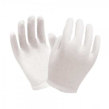 Ronco - 65-115 - Ladies - Cotton Inspection Bleached Gloves White - 12 Pair/Pack