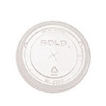 Dart Solo - 610TS - X-Slot Flat Clear Lid for TP9D - 1000/Case