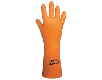 "Ronco - 15-872-08 - Medium Ultra-Fit 33 Mil Latex Gloves, Flocklined 12"" - 6 Pair/Pack"