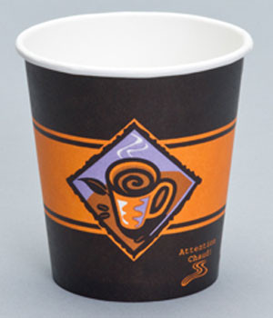Genpak - 5HD - 5 Oz Hot Paper Cup, Printed Gourmet Cafe, 1000/Case