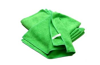 Amber - 14 x 14 Green - Micro Fibre Cloth - 10/Pack