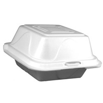 Darnel - Q1 - White Foam Hinged Container - 200/case