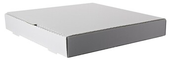 "Amber - 10"" x 10"" Plain White Pizza Box - 50/Case"