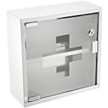 """Winco - SFAC-12 - SS First Aid Cabinet 12""""x12""""x4-3/4"""" - Each"""