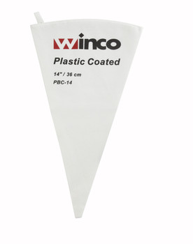 "Winco - PBC-14 - 14"" Pastry Bag Cotton w/ Plastic-Coated"