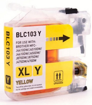 Brother LC103 Compatible Yellow Ink Cartridge High Yield - New