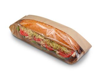 "DublView® ToGo! Baguette Deli Bag Natural, 3-1/4""x2""x15-1/4"""