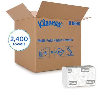 KLEENEX® 01890 - WHITE MULTI-FOLD TOWELS 16x150 2400/CASE