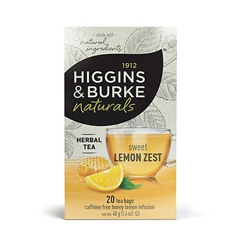 Higgins & Burke - Herbal Tea Lemon 20/box, 6 boxes/case