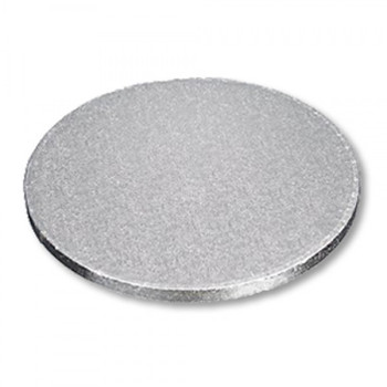 """Decora - RS98618 - 8"""" Round X 1/4"""" Thick Cake Board - Silver - 2 x 12/Pack = 24/Case"""