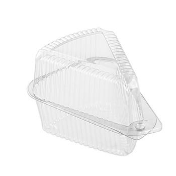 Polar Pak - 503230 Plastic Cake/Pie Slice Container - Extra Deep, 300/Case