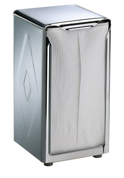 San Jamar - H900X - Stainless Steel, Tallfold/JDN Two-Sided Tabletop Napkin Dispenser