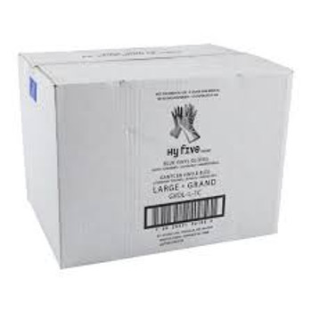 Hy-Five GLV35-L-C - Vinyl Gloves POWDERED Large  10x100/case