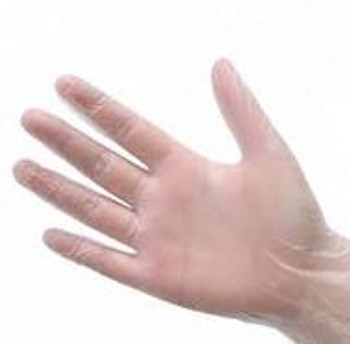 Clear X- Large Vinyl Powder Free Exam Gloves