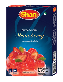 Shan - Jelly Crystals Strawberry - 80g - 12/Pack