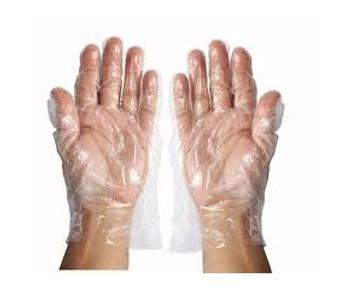 Hy-Five  - Poly Deli Gloves Powder Free Large 10,000/Case  20x500