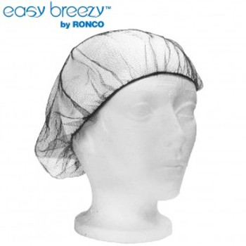 "Ronco 1817BR - 18"" Brown Hairnets Polyester Mesh"