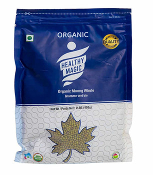 Healthy Magic - Organic Mung (Moong) Whole Green Beans 2 lbs