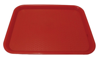 "Johnson Rose - 86122 - Plastic Food Service Tray Red 12"" X 16"" - Each"