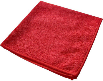 Amber - 16 x 16 Red - Micro Fibre Cloth - 10/Pack