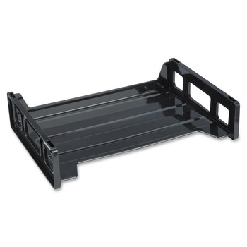 Business Source - Side-loading Letter Tray - Black