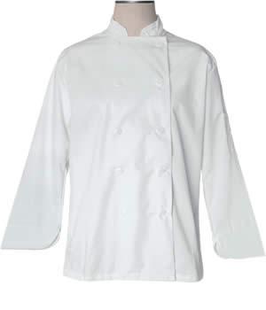 CI21809 Large - Bodyguard White Chef Coat Large - Each