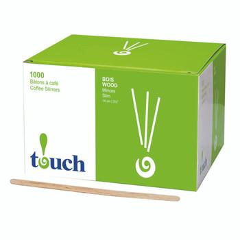 """Touch - 80-411N - 5.5"""" Wooden Stir Sticks"""