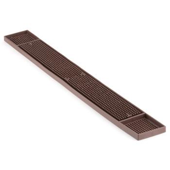 """JR - 7961 - Rubber Bar Mat - 27"""" x 3.25"""" (Brown)"""