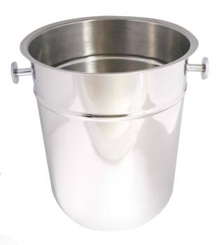 "JR - 7890 - Champagne/Wine Bucket - 10"" x 8.75"" Stainless Steel"
