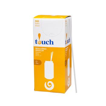 "Touch - 92-0379 - 8"" Drinking Straw White - 9x500"