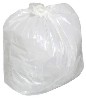 AMBER 24 x 22 Regular White Garbage Bags 500/cs