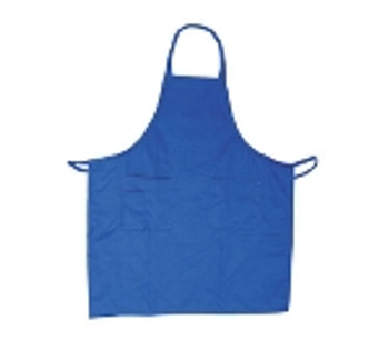 Winco - BA-PRD - Blue Full Size Aprons (Cotton/Poly Blend) - 1/Each