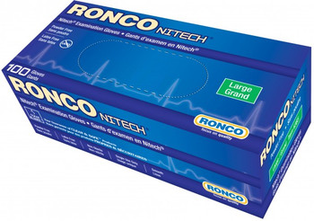 Ronco - Nitech - Disposable Gloves (Blue) - Small, Powder Free