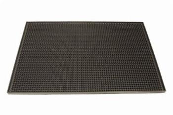 """JR - 7962 - Rubber Bar Service Mat - 12"""" x 18"""" (Black)"""