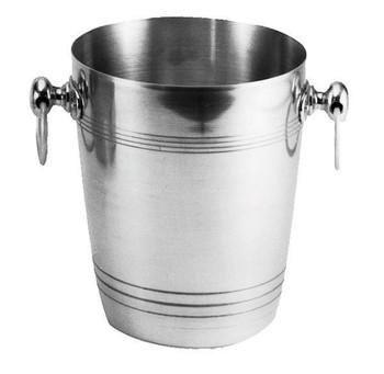 "JR - 7885 - Champagne/Wine Bucket - 7.75"" x 8.75"" Polished Aluminium"