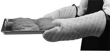 """Johnson Rose - 30847 - 17"""" Terry Cloth Gloves Heat Protection From 400F To 600F - 1 Pair/Pack"""