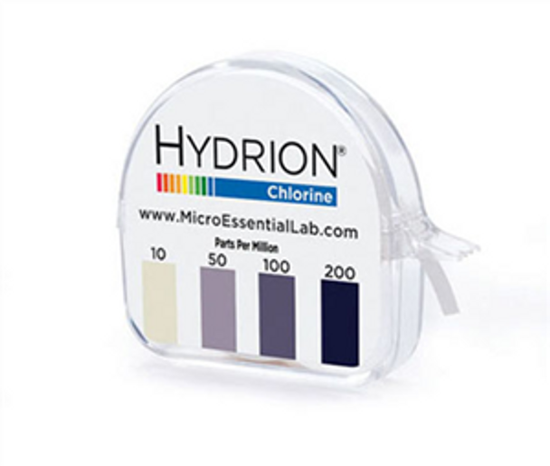 Hydrion / Diversey (CM-240) Chlorine Testing Strips Roll with Dispenser 10-200 PPM Kit