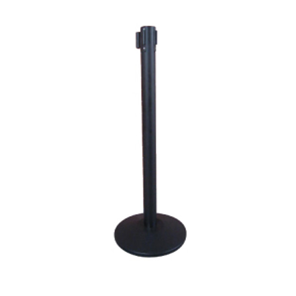 "Winco - CGS-38K - 36"" Stanchion Post, Black 6.5 Feet Retractable, Each"