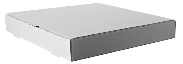 "Amber - 9"" x 9"" - Plain White Pizza Box  - 50/Case"